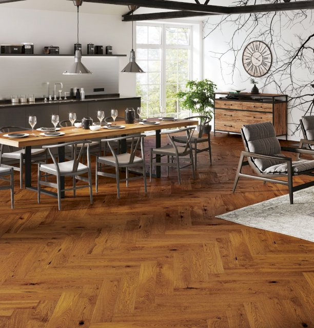 Grand Brown Sugar Herringbone